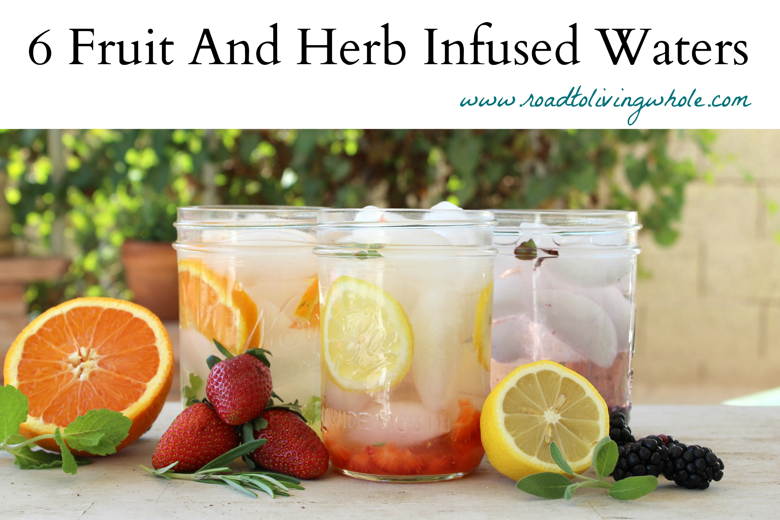 fruit and herb infused water