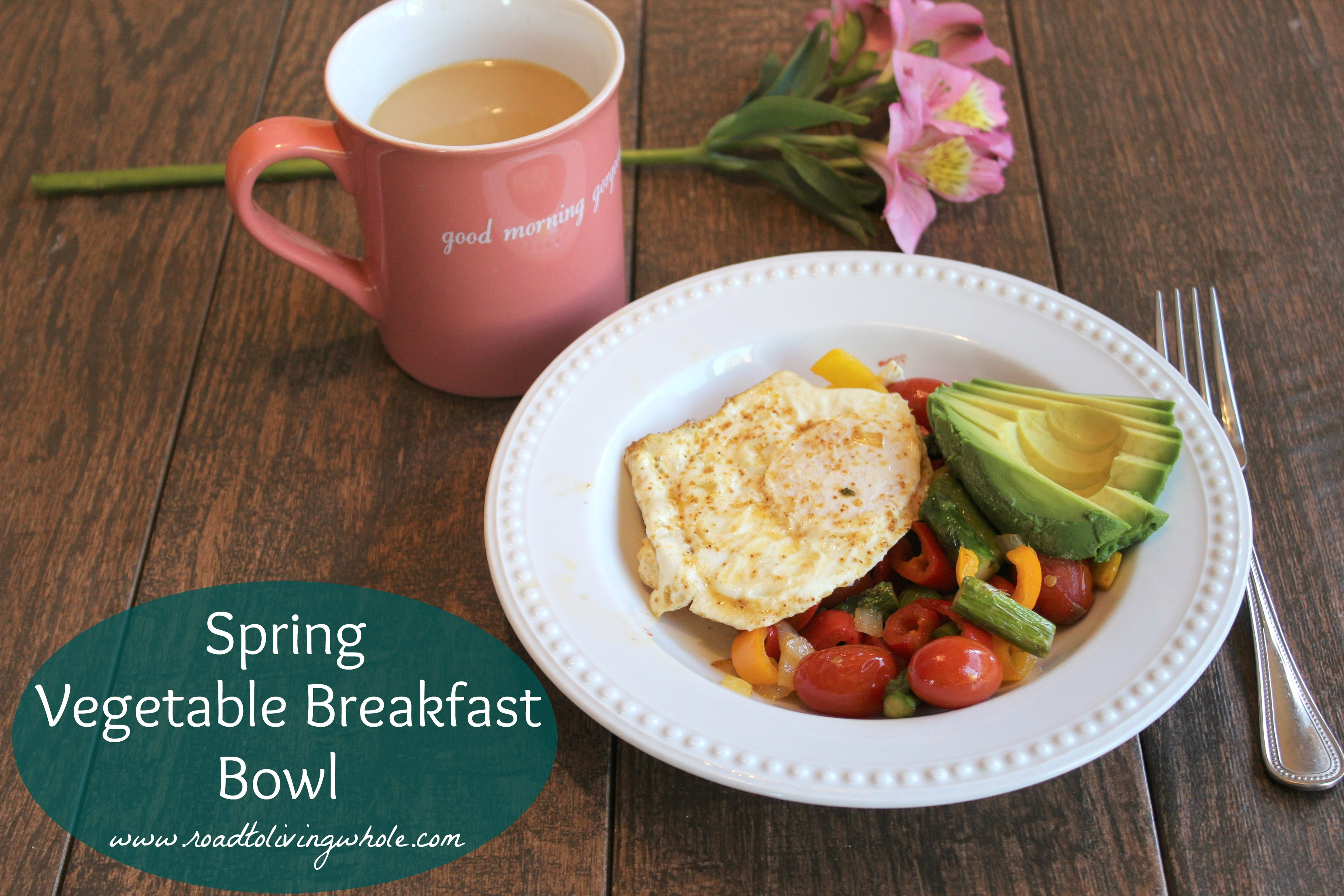 spring vegetable breakfast bowl