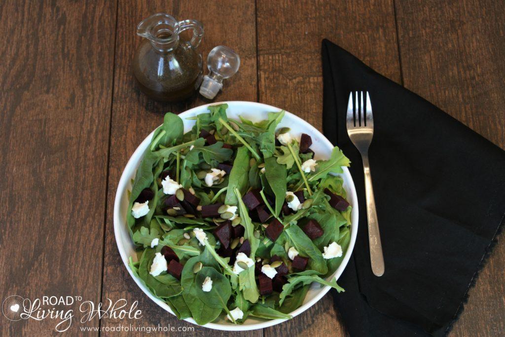 arugula spinach beet salad