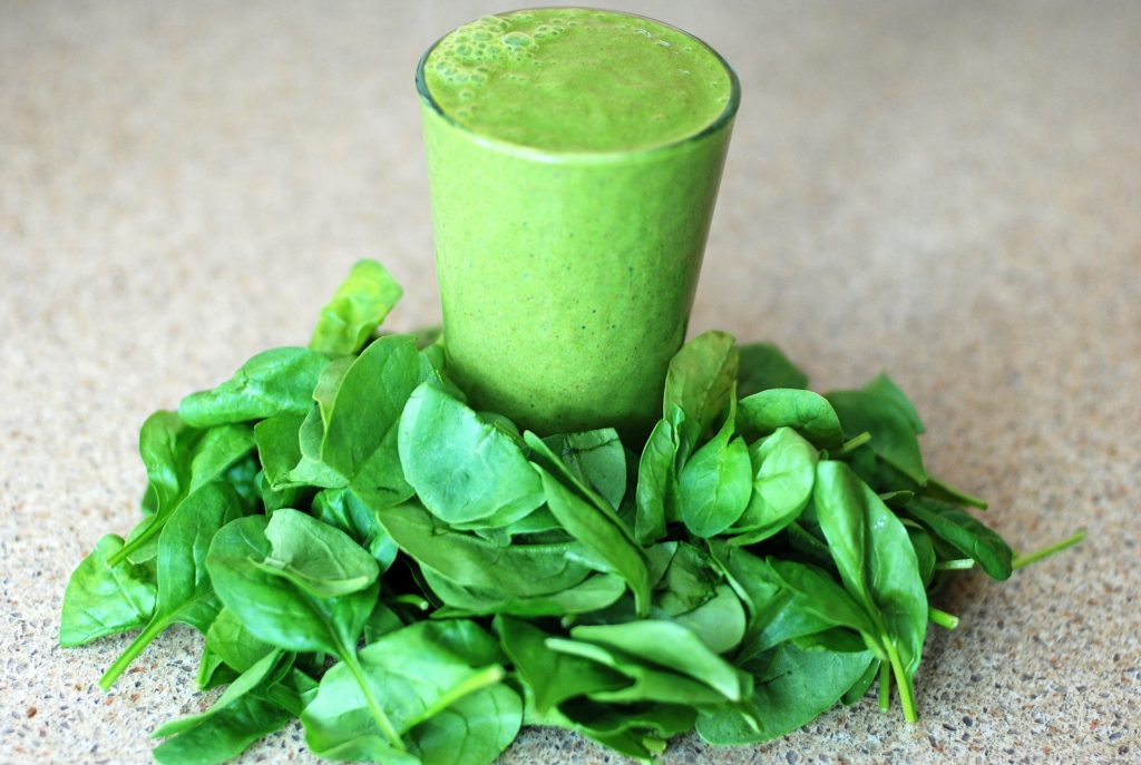 spinach for skin