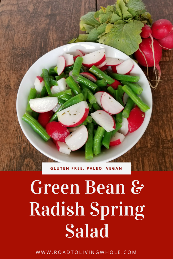 green bean radish spring salad