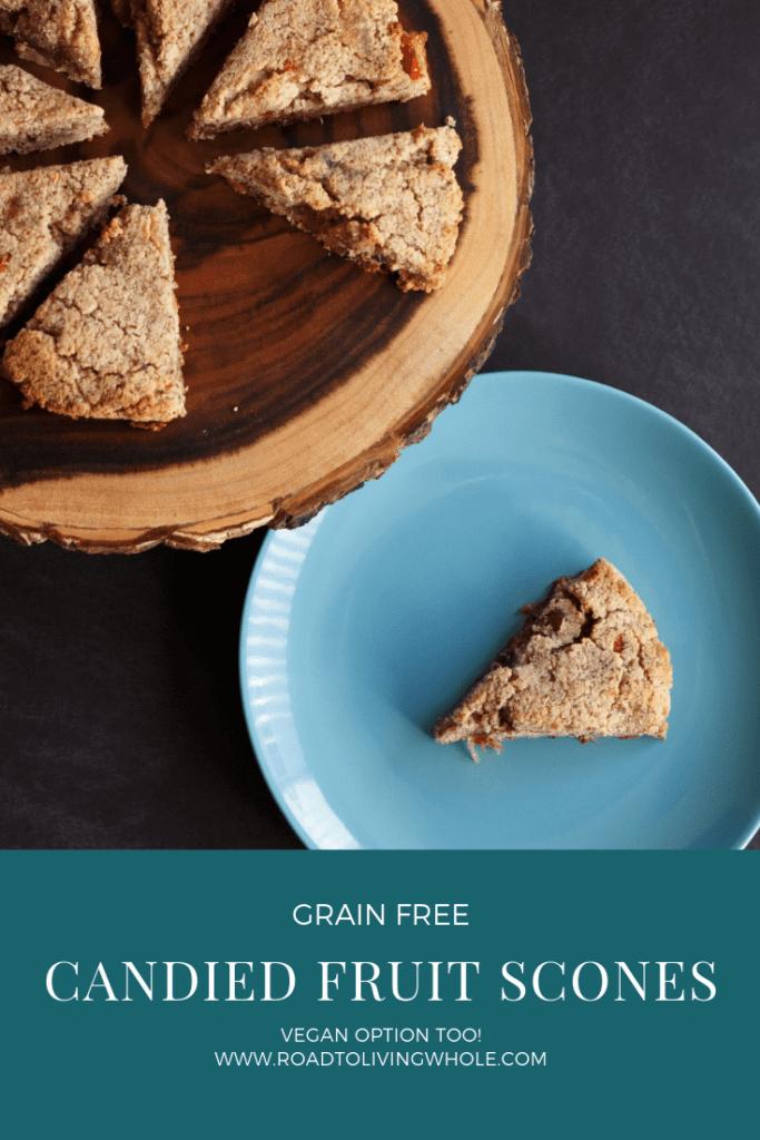 grain free candied fruit scones