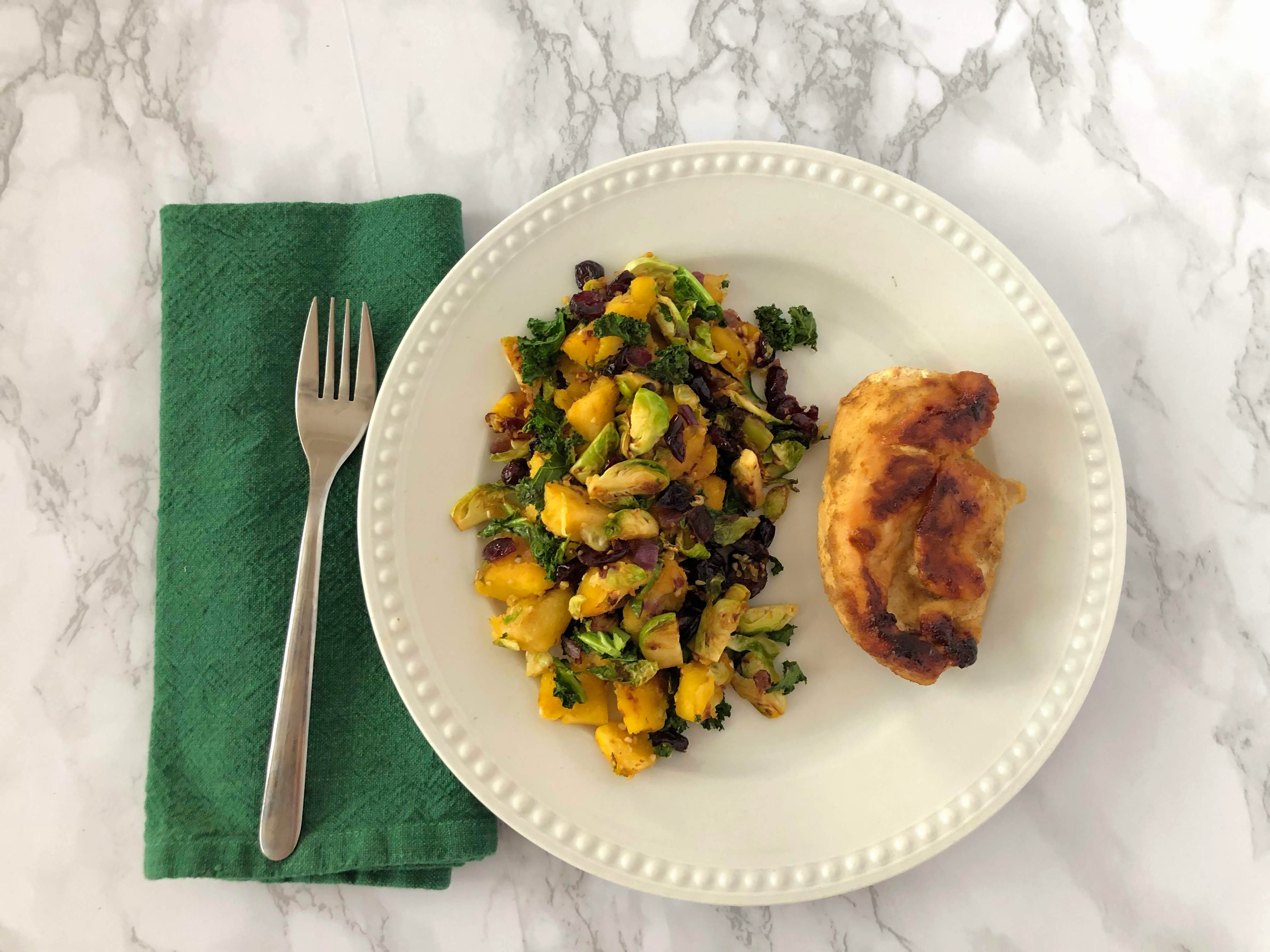 paleo and allergy friendly winter vegetable medley side dish with chicken