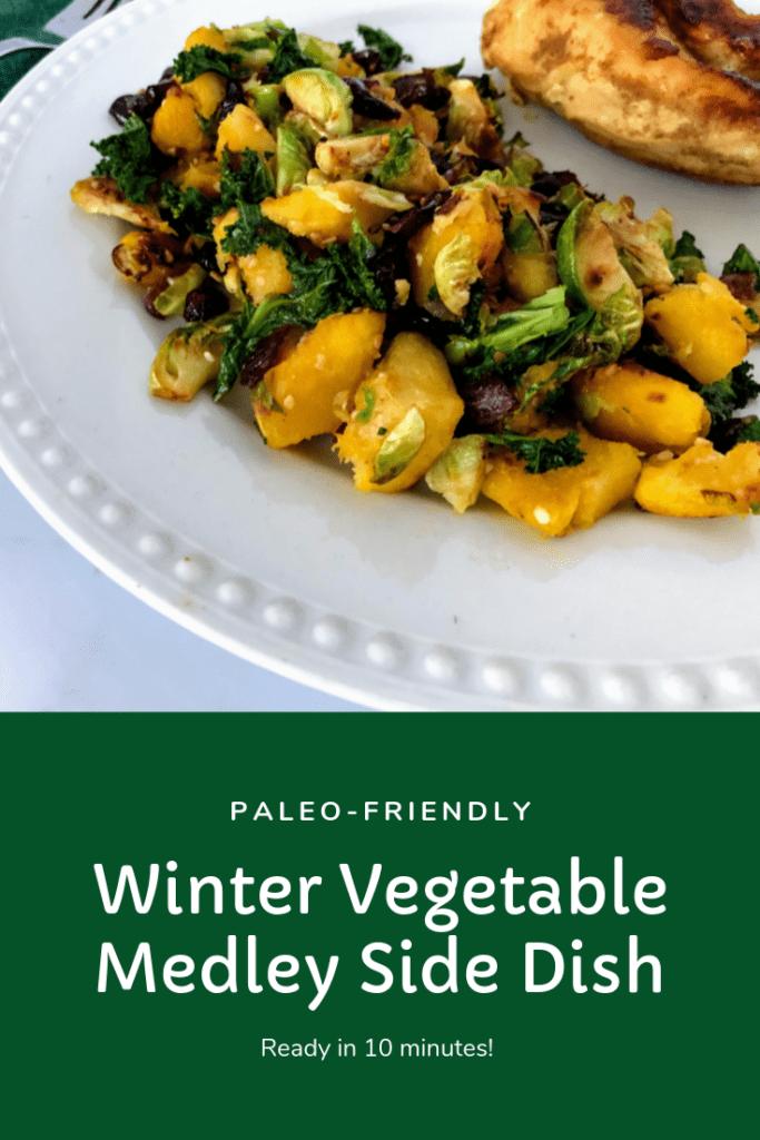 Paleo winter vegetable medley side dish