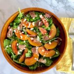 Arugula Salad with Nectarines, Prosciutto, and Goat Cheese