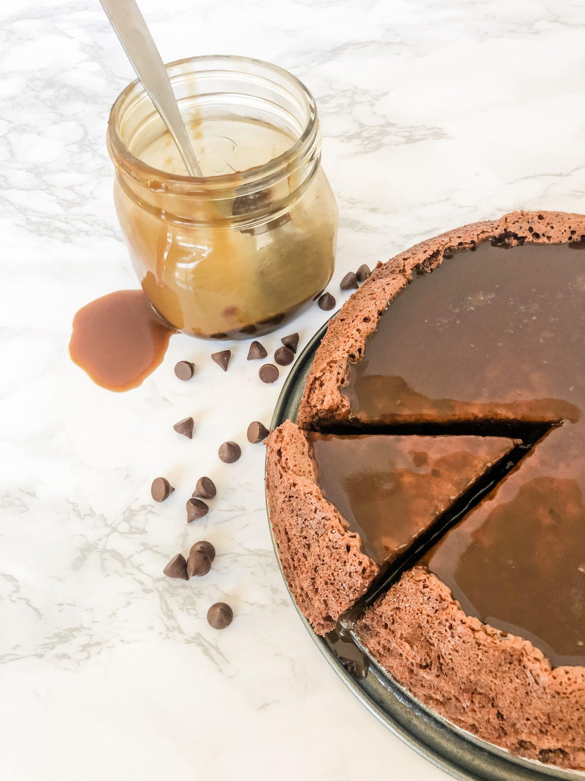Salted Caramel Flourless Chocolate Cake
