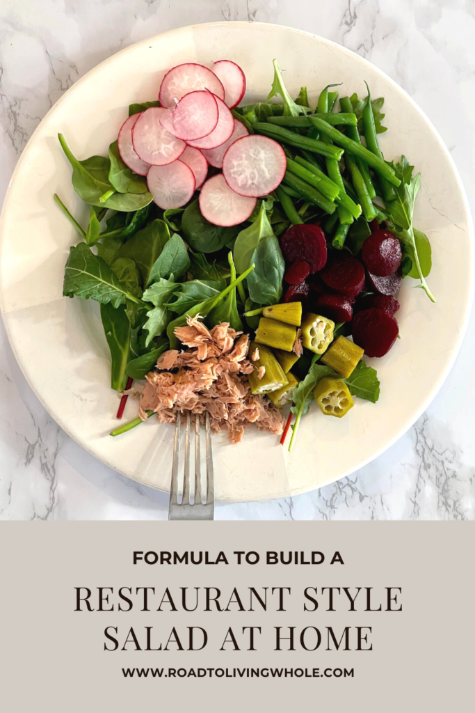 Formula to Build a Restaurant Style Salad that Sticks