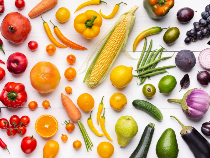 Sweet Fruit And Vegetables Make The Perfect Snack