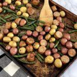 chicken sausage green bean potato sheet pan meal